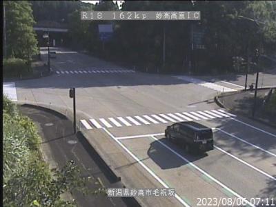 妙高高原インター付近ライブカメラ